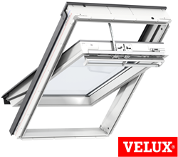 VELUX GGU White Polyurethane SOLAR Powered Windows