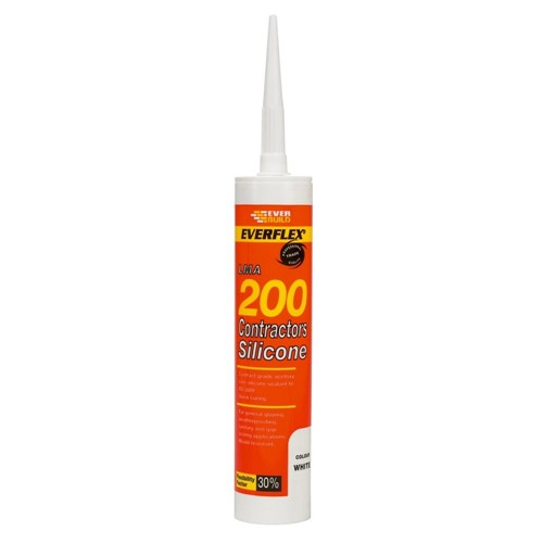 Everbuild 200 Contractors Clear Silicon