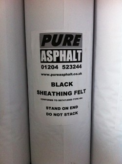 Black Sheathing Felt